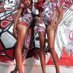 Bodypainting Collab with Jon Jon Loveless x Leon Rainbow.. Photography by Gregory Maxx.. Models Arazel D'Ava Nijalia Thalez and Nije Durdeen